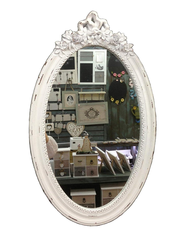 GMMH charma nter rústico Madera Antiguo de Espejo para Pared Perchero Espejo Piso Espejo Barroco