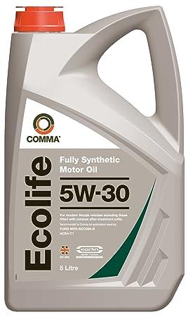 Comma ECL5L Ecolife - Aceite sintético de motores gasolina y diésel nuevos (5W-30, 5 l): Amazon.es: Coche y moto