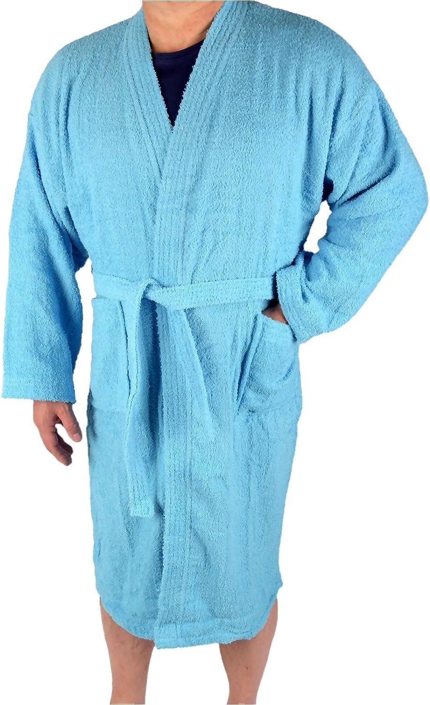 Herren Frottee Bademantel Kimono Style 100/% Baumwolle