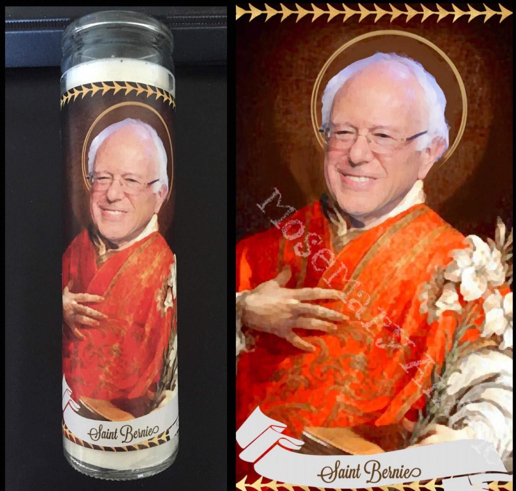 Mose Mary and Me Bernie Sanders Devotional Prayer Saint Candle