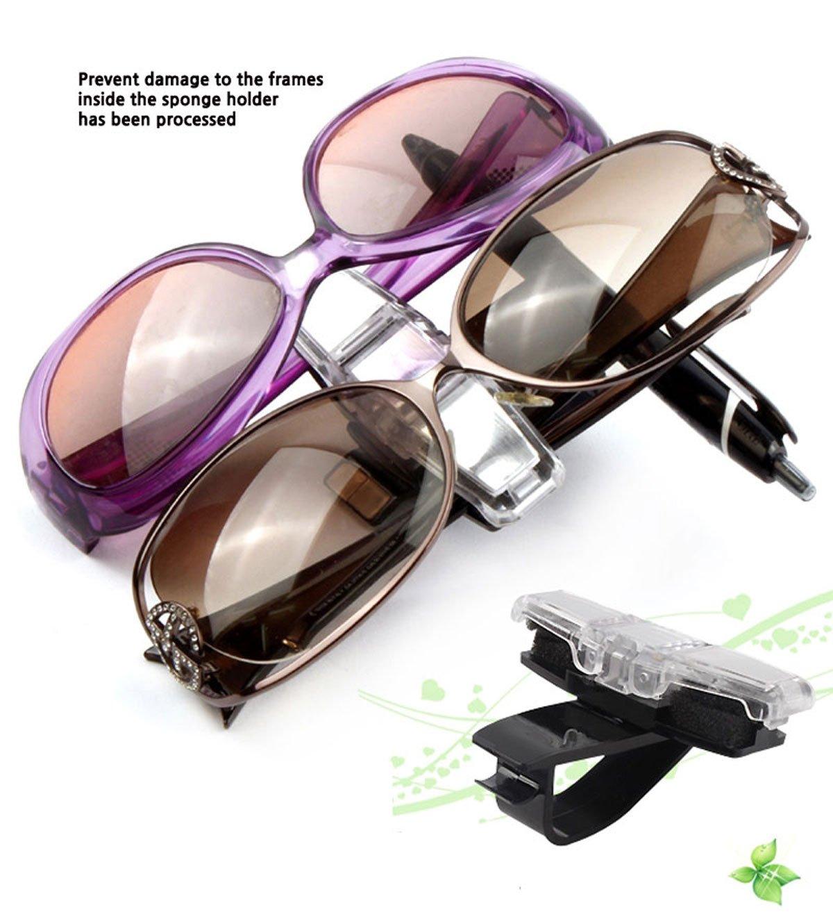 per lunetta parasole Doppio gancio per occhiali o porta biglietti Car