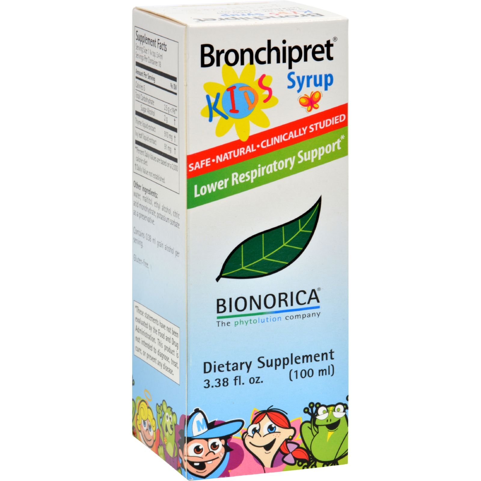 SINUPRET BY BIONORICA BRONCHIPRET SYRUP,KIDS, 3.38 FZ