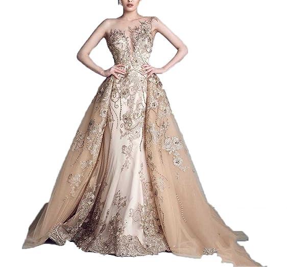 Amazon.com: Ellenhouse Long Detachable Skirt Beaded Applique ...
