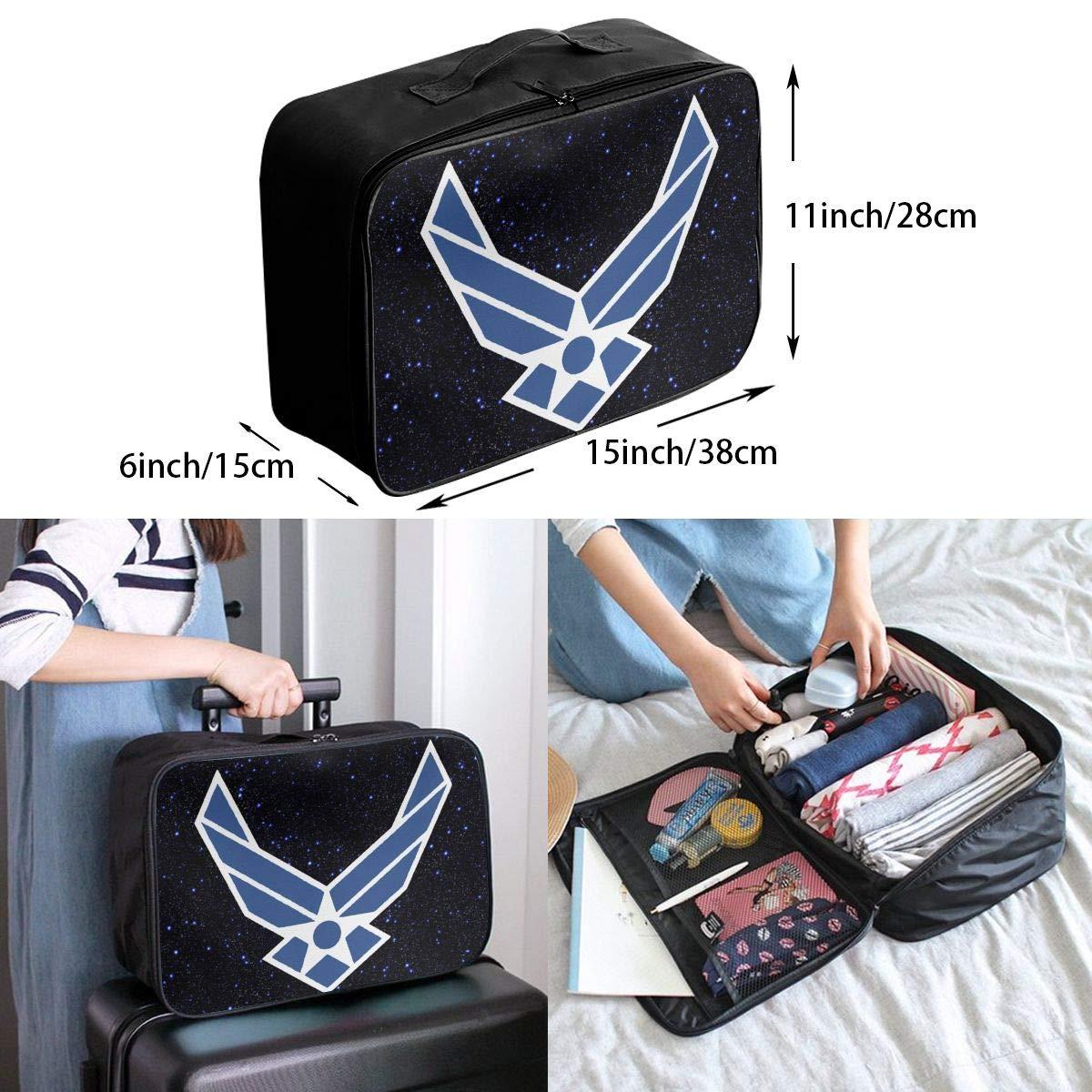 Unisex Travel Duffel Bag Waterproof Fashion Lightweight Large Capacity Portable Luggage Bag Us Air Force Usaf