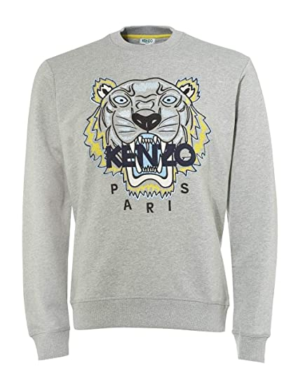fe04cf7ecb1 Kenzo Mens Tiger Head Sweatshirt Grey: Amazon.co.uk: Clothing