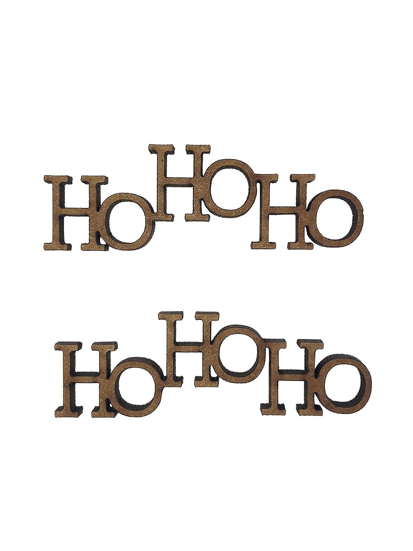 2x We Wish You Merry Christmas Tree 7cm Wood Craft Embelishments Laser Cut Shape