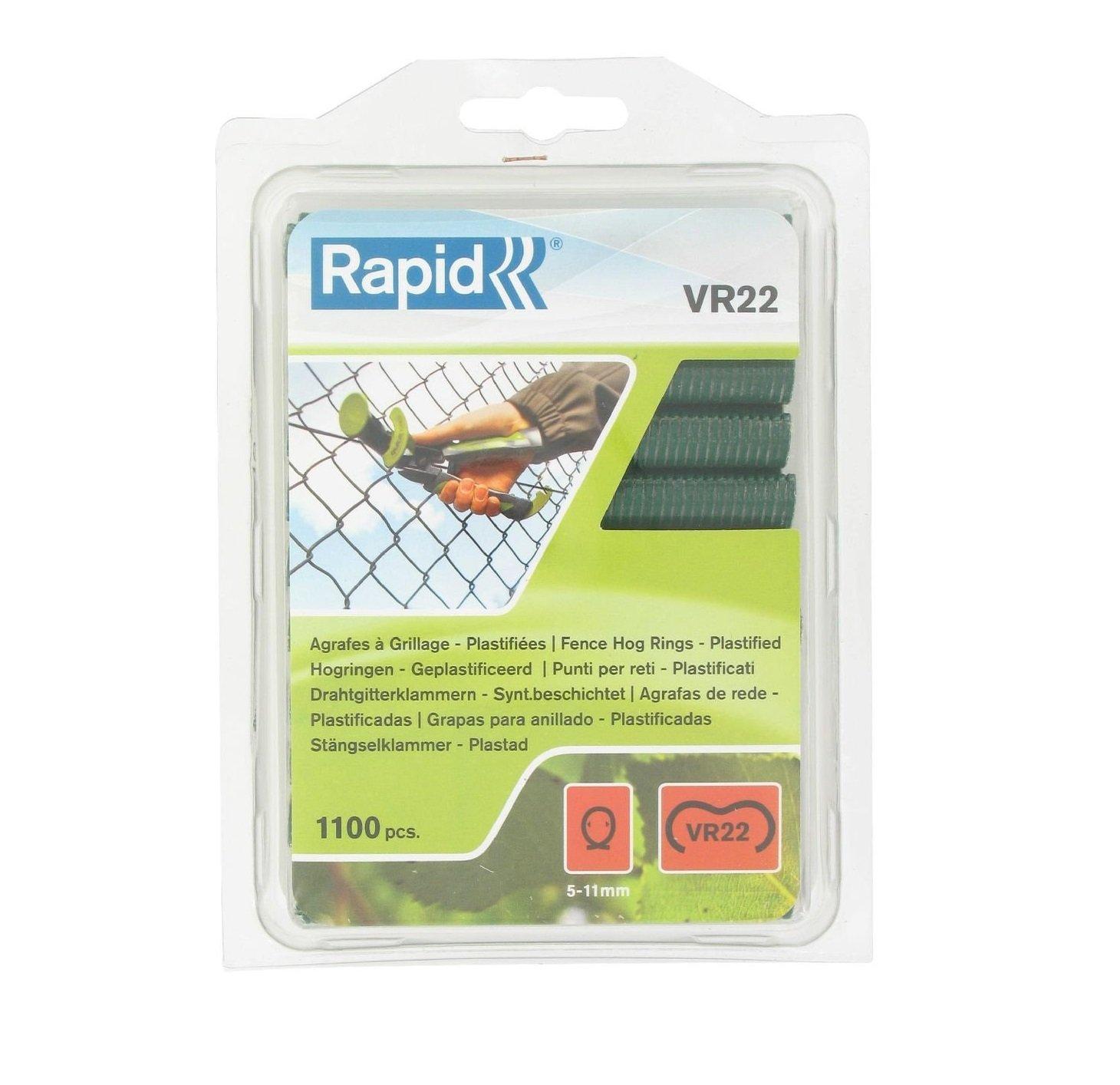 40108807 Haute qualit/é Agrafes de grillage galvanis/ées vertes 1100 pi/èces 5-11 mm Rapid VR22
