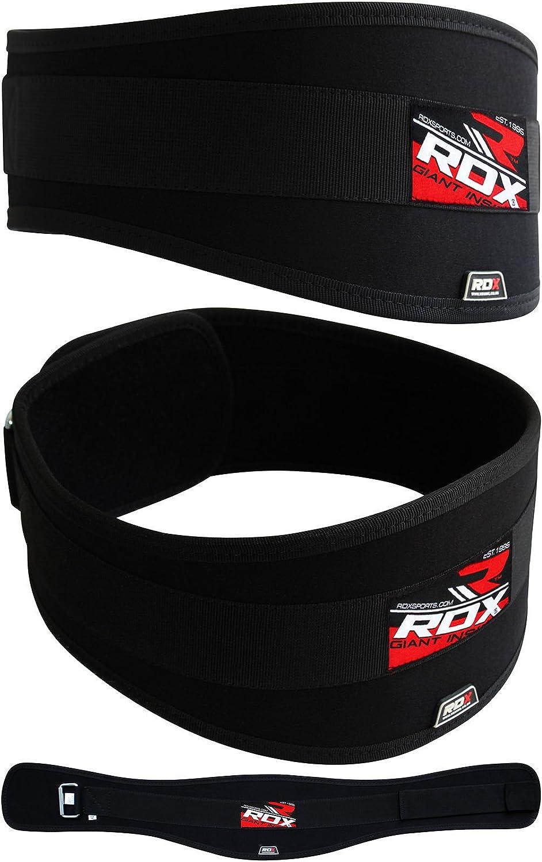 RDX Hombre Fitness Cinturón de halterofilia Gym entrenamiento Cinturón Cinturón de neopreno