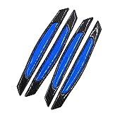 uxcell 4pcs Black Blue Car Door Edge Guard Strip
