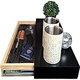 Covert Cabinets (Satin Black) GS-1228 Gun Cabinet Wall Shelf Hidden Storage