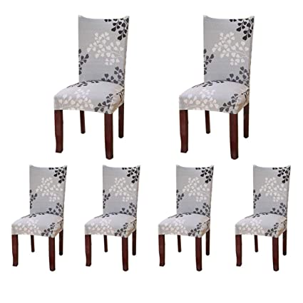 Astonishing Soulfeel 6 X Soft Spandex Fit Stretch Short Dining Room Covers With Printed Pattern Banquet Chair Seat Protector Slipcover For Home Party Hotel Download Free Architecture Designs Scobabritishbridgeorg
