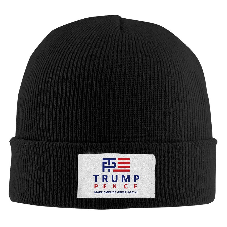 YFLLAY Trump Pence Logo Knit Cap Woolen Hat For Unisex