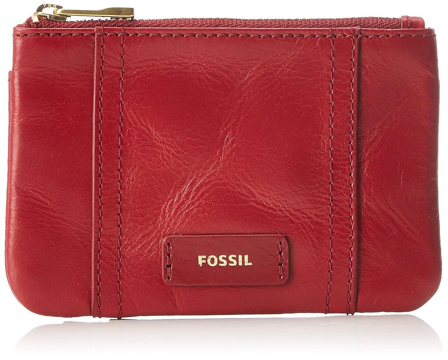 Fossil - Damen Geldbörse Ellis Zip Coin, Carteras Mujer, Rot (Red Velvet), 0.6x7.62x10.8 cm (B x H T): Amazon.es: Zapatos y complementos