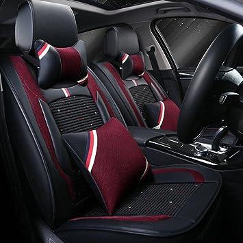Schwarz Auto Kfz Vordere Sitzbezug Sitzschoner Sitzschutz Universal 2x PU Leder