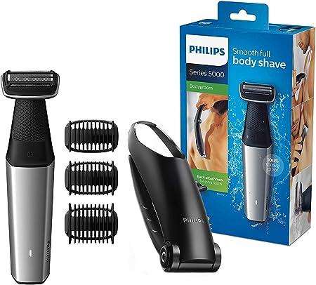 Recorta o afeita todas las áreas del cuerpo con facilidad.,Los bordes redondeados y una capa hipoale