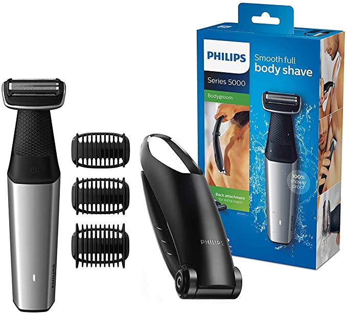 Philips BG5020 / 15 Bodygroom Series 5000 con accesorio para depilación y 3 peines para recortar: Amazon.es: Salud y cuidado personal