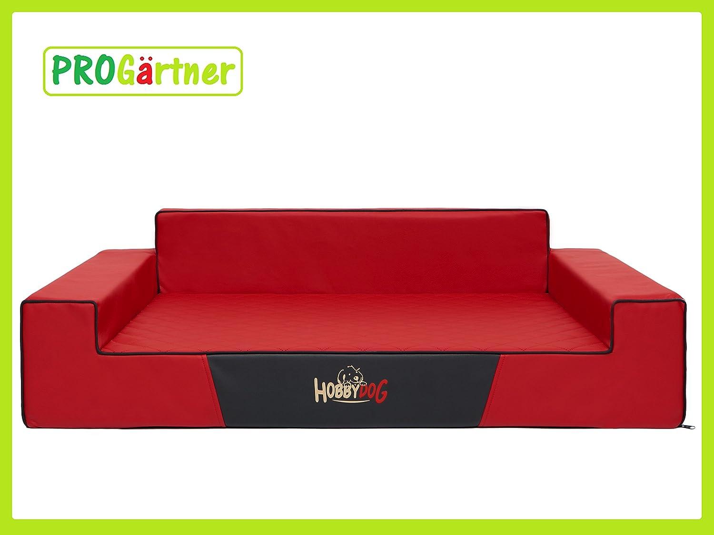 Hobbydog Cama para perros Glamour XXL 120 x 80 cm Color 3 Rojo, piel sintética, codura-poliamida, perros sofá: Amazon.es: Productos para mascotas