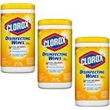 Clorox Disinfecting Wipes, Citrus Blend, 75 Count, Pack of 3