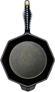 """product image for FINEX 8"""" Cast Iron Skillet, Modern Heirloom, Handcrafted in the USA, Pre-seasoned with Organic Flaxseed Oil"""