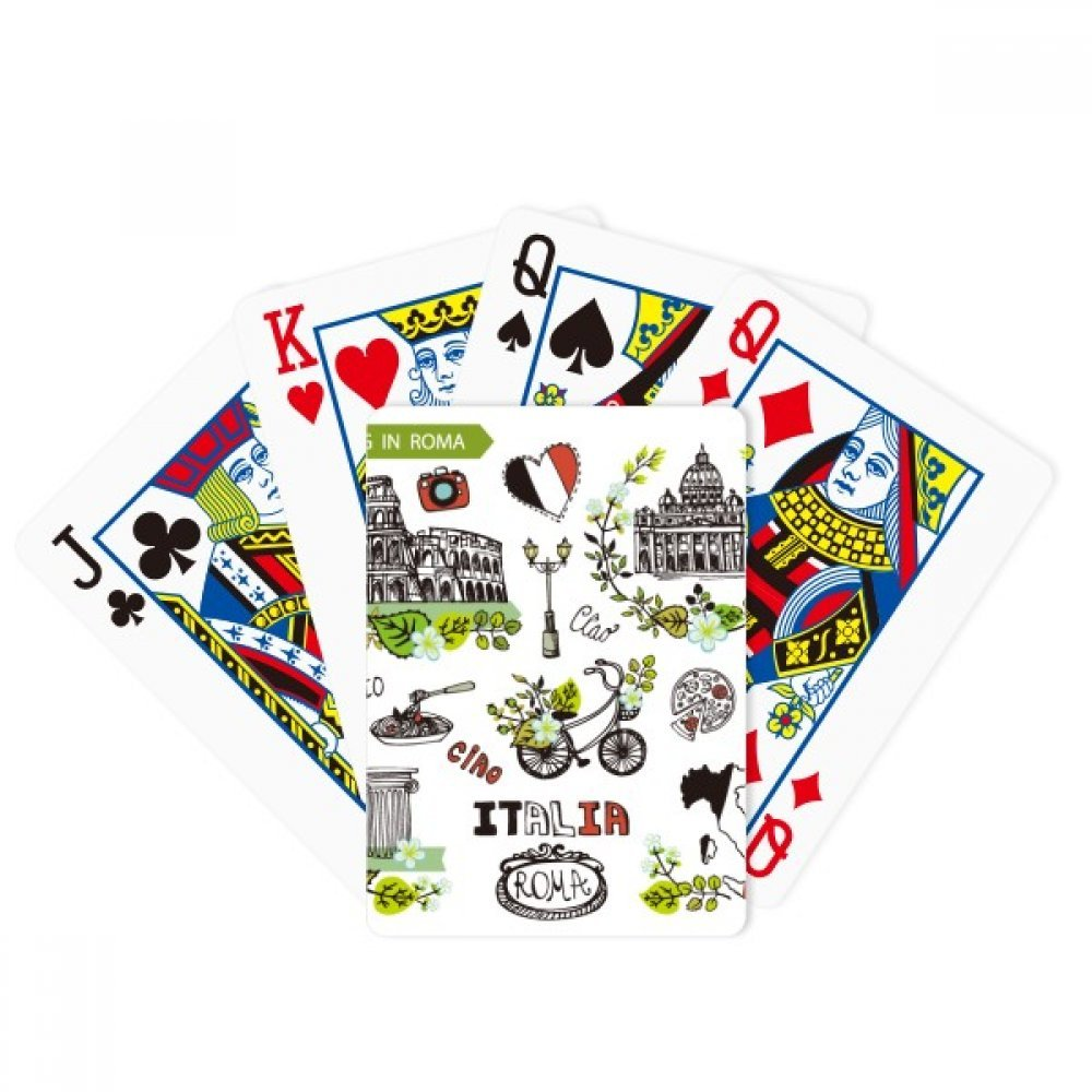 Spring Colosseum Roma Italy Graffiti Poker Playing Card Tabletop Board Game Gift