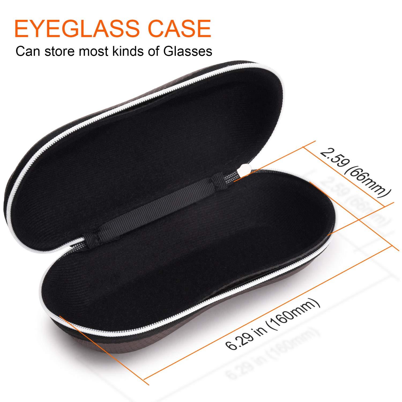 con cremallera Estuche para gafas de sol impermeable dise/ño de gafas marr/ón caf/é talla /única semirr/ígido SKYNEW