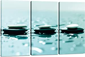 Large Canvas Wall Art Decor - Relaxing Zen Wall Art, 3 Panels Split Canvas Art Print - Decorative Prints for Living Room, Bedroom, Office, Spa, Home Decor Painting Gift 36x48