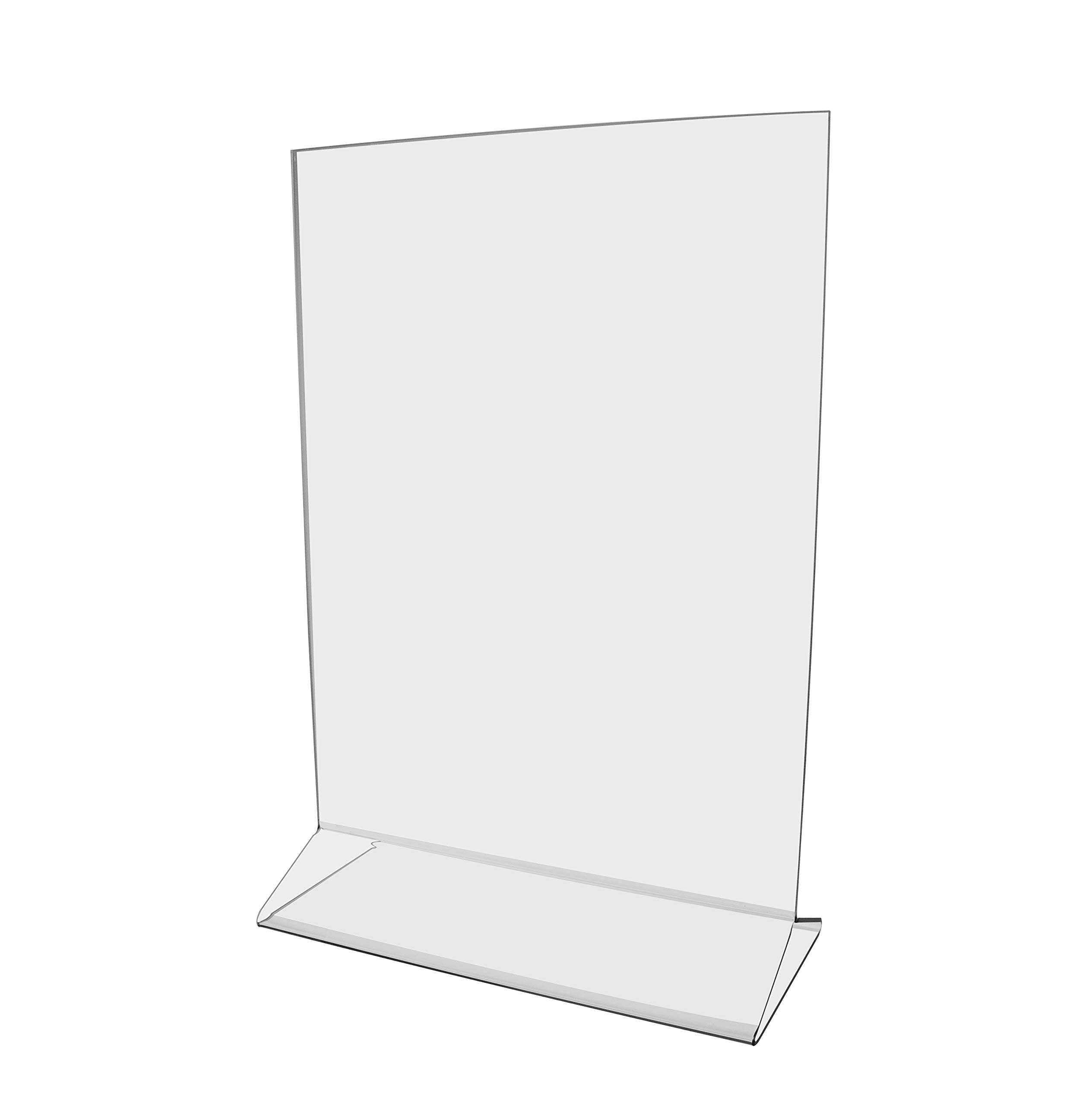 Marketing Holders Literature Flyer Poster Frame Letter Notice Menu Pricing Deli Table Tent Countertop Expo Event Sign Holder Display Stand 8''w x 10''h Pack of 30