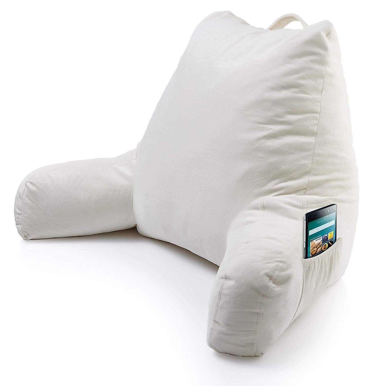 BTCDB Reading Pillow, armrest Pocket Back Support, Foam, Reading and Watching TV on The Bed, Relaxing, no Back Pain TA