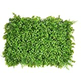 Siepe artificiale, Set of 6 pianta artificiale, erba, fiore, foglia, siepe per decorazione casalinga ornamento, giardini, balconi e terrazze, 63 cm x 44 cm