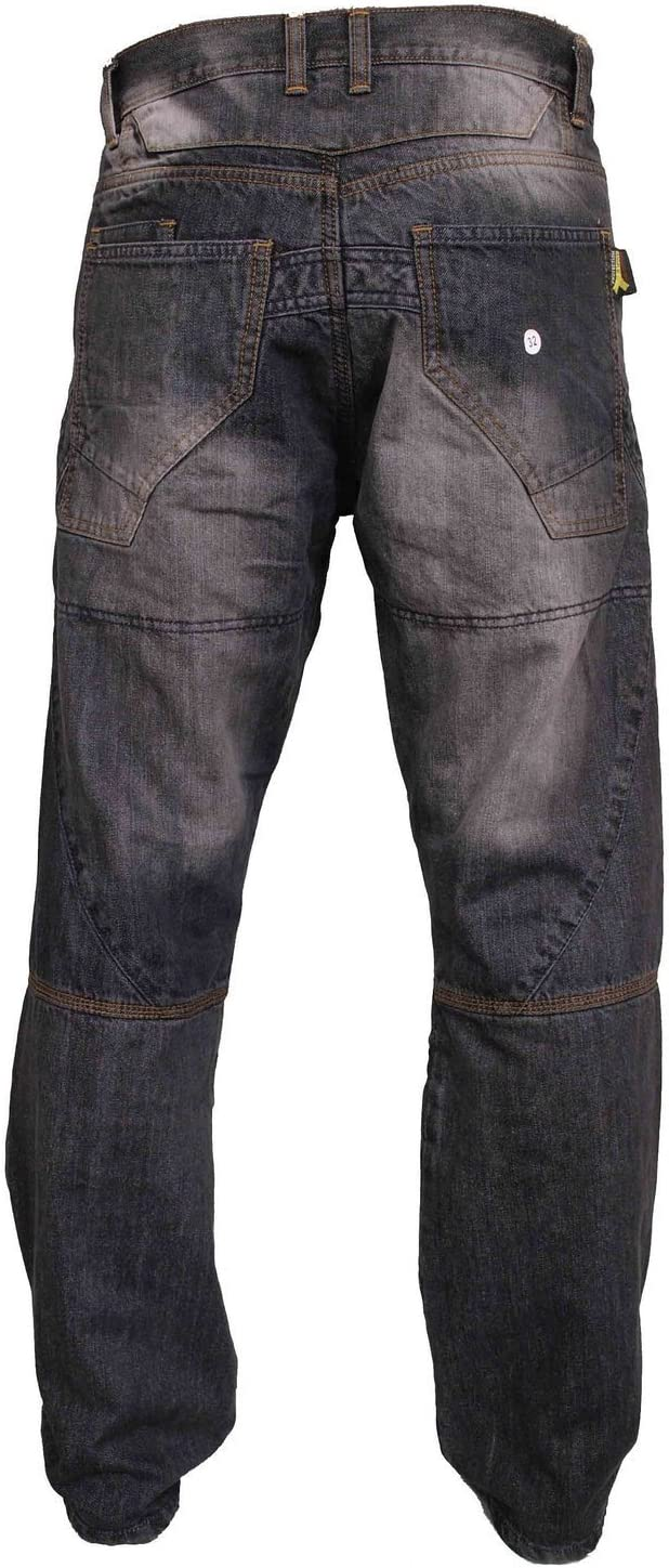 Newfacelook Mens Motorcycle Protective Lined Jeans Pants Trousers W36 L32