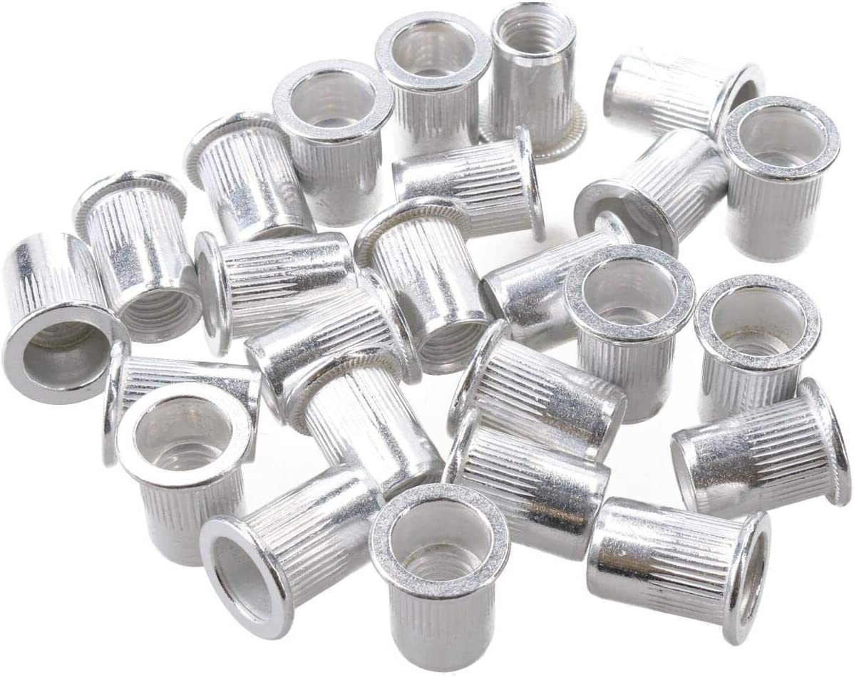 M8 8mm Alu Nut Serts Riveting Nuts Rivet Threaded Inserts Blindnut Rivnut 25pc