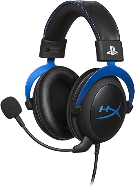 Amazon Com Hyperx Cloud Official Playstation Licensed Gaming Headset For Ps4 With In Line Audio Control Detachable Noise Cancelling Microphone Comfortable Memory Foam Black Computers Accessories
