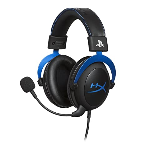 HyperX Cloud - Official Playstation Licensed Gaming Headset for PS4 with  in-Line Audio Control, Detachable Noise Cancelling Microphone, Comfortable