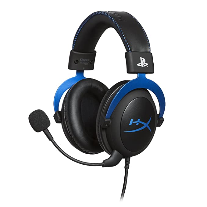 Hyper X Cloud Gaming Headset   Playstation 4   Officially Licensed By Sony Interactive Entertainment Llc For Ps4 Systems   Black/Blue (Hx Hscls Bl/Am) by Hyper X