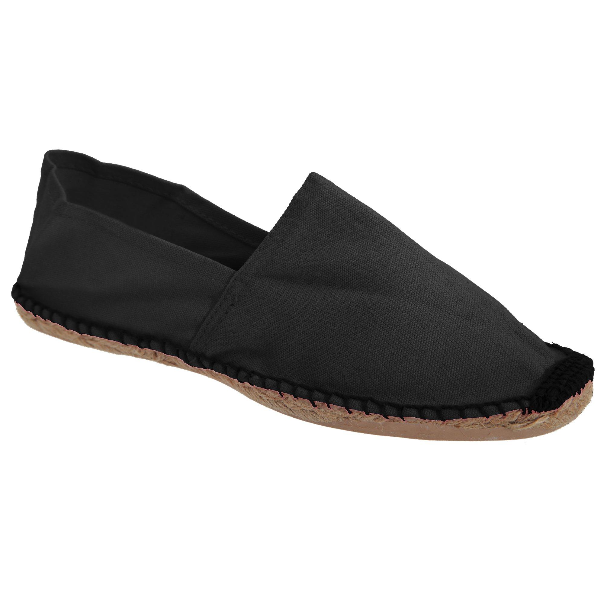 B&C Paradise Mens Vibrant Espadrille Shoes (7.5 US) (Black)