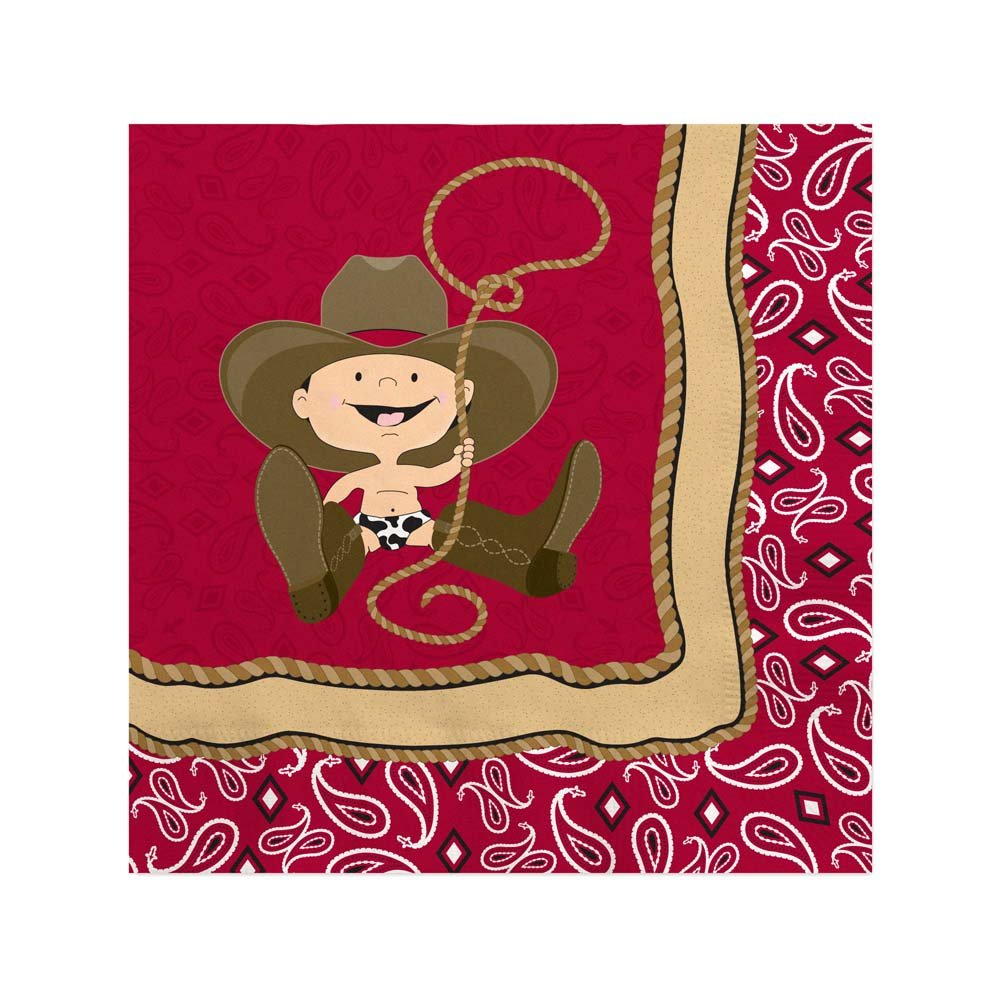 Amazon.com: Little Cowboy - Western Party Tableware Plates, Cups ...