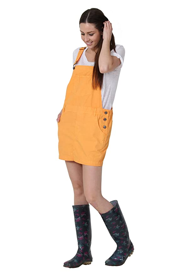 bb7cdbedb9fb Uskees Claire Vestito Salopette Arancia Oversized Abito Corto Salopette  Loose Fi CLAIREORANGE  Amazon.it  Abbigliamento