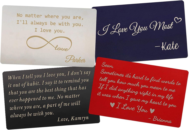 Laser Engraved Card Valentine Gift Personalized Gift Everyday Gift Husband Gift Personalized Wallet Card Wooden Wallet Card
