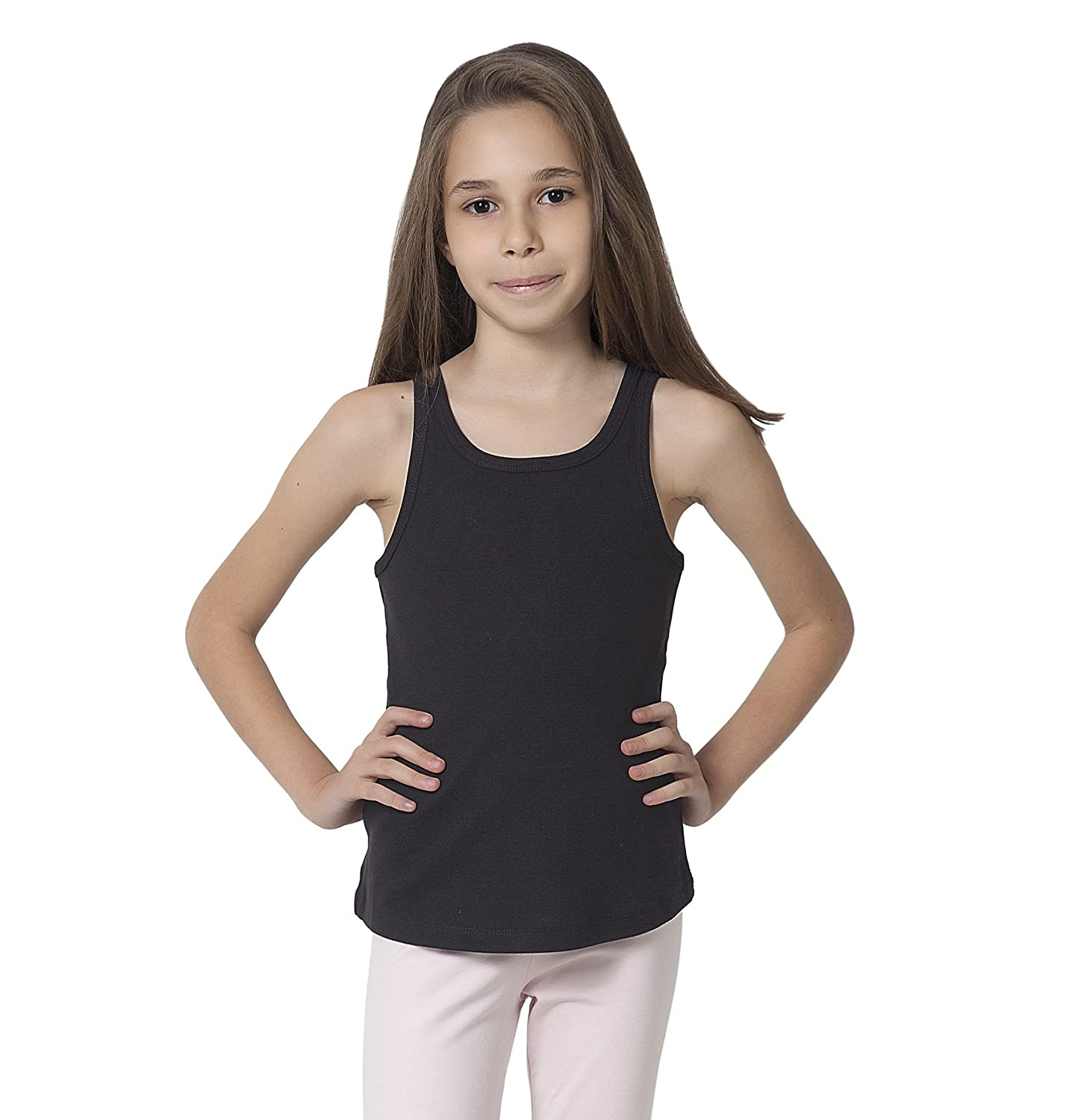 b7d504bd912624 100% Cotton Classic Undershirt Style – These unique tee tank tops for youth  and teen girls offer fashionable