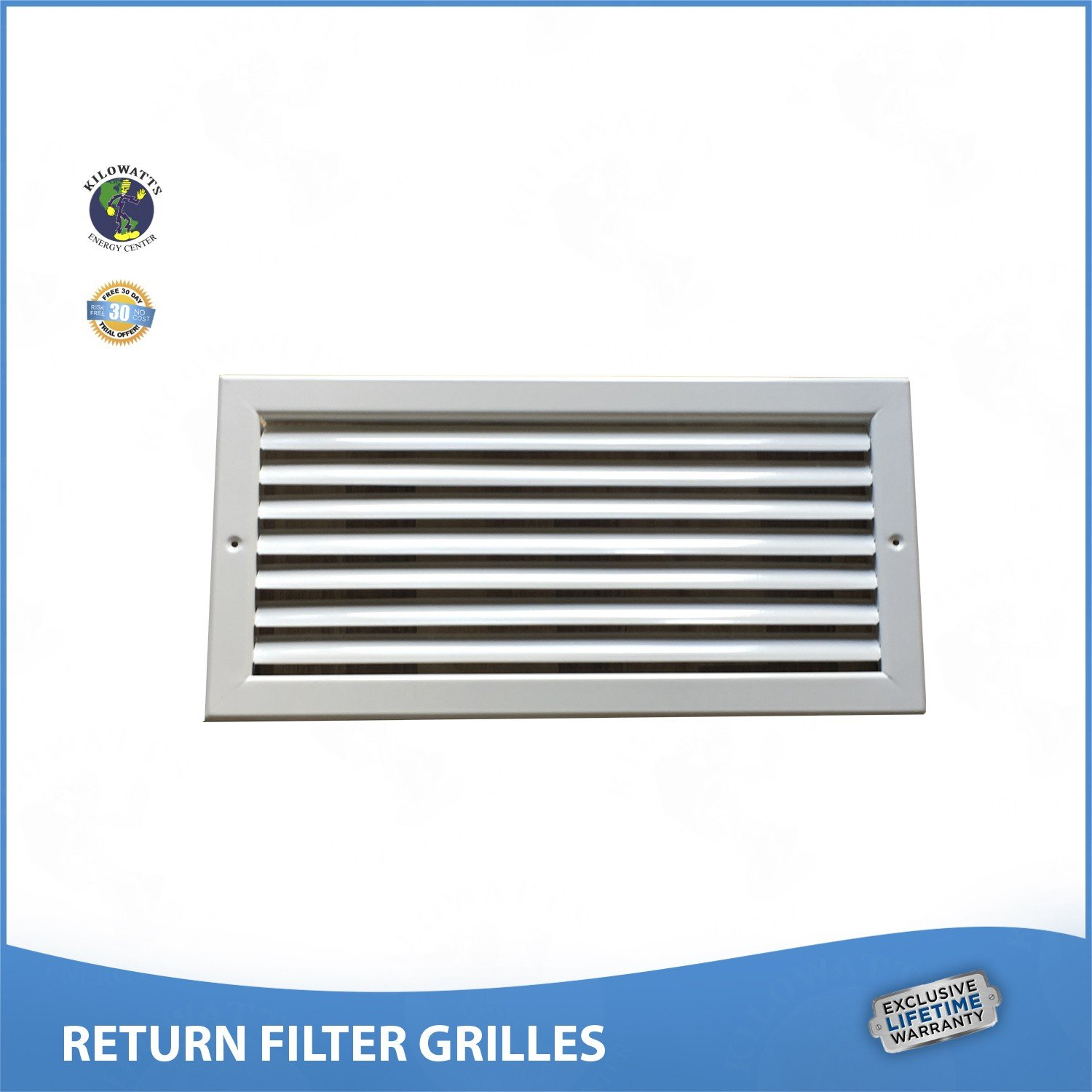 28''w x 6''h RETURN FILTER GRILLE - Easy Air Flow. by Kilowatts Energy Center
