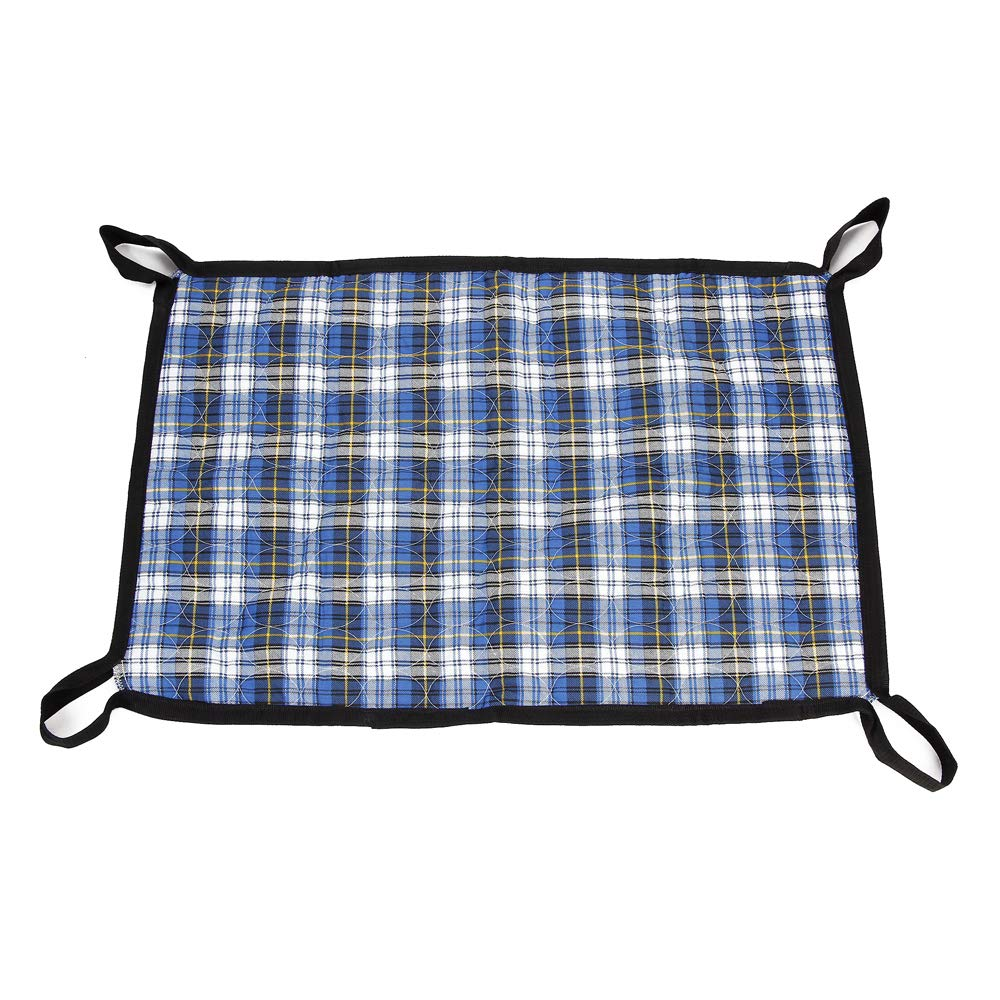 Patient Transfer Draw Sheets Hospital Bed Slide Board Bariatric Adult Incontinence Bed Pads Washable Medical Lifting Sling Geriatric Bed Turning Positioning Pad (Plaid Cloth)