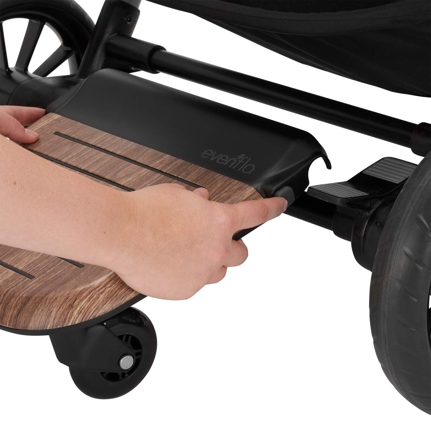 Evenflo Stroller Rider Board, Convenient Riding Options, Non-Skid Surface, Smooth-Ride Wheels, Easy to Use, Holds up to 50 Pounds, No Additional Parts Needed by Evenflo (Image #3)