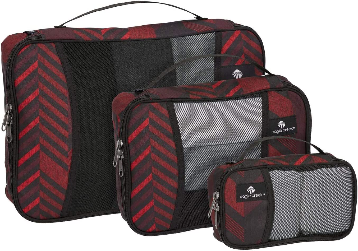 Eagle Creek Travel Gear Luggage Pack-it Cube Set Red Stripe