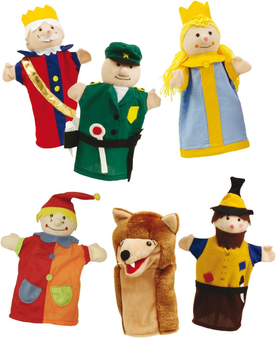 Juego de titeres Roba, figuras de títeres hechas de tela, juego de títeres para manos con 6 personajes, personajes para teatro de guiñol