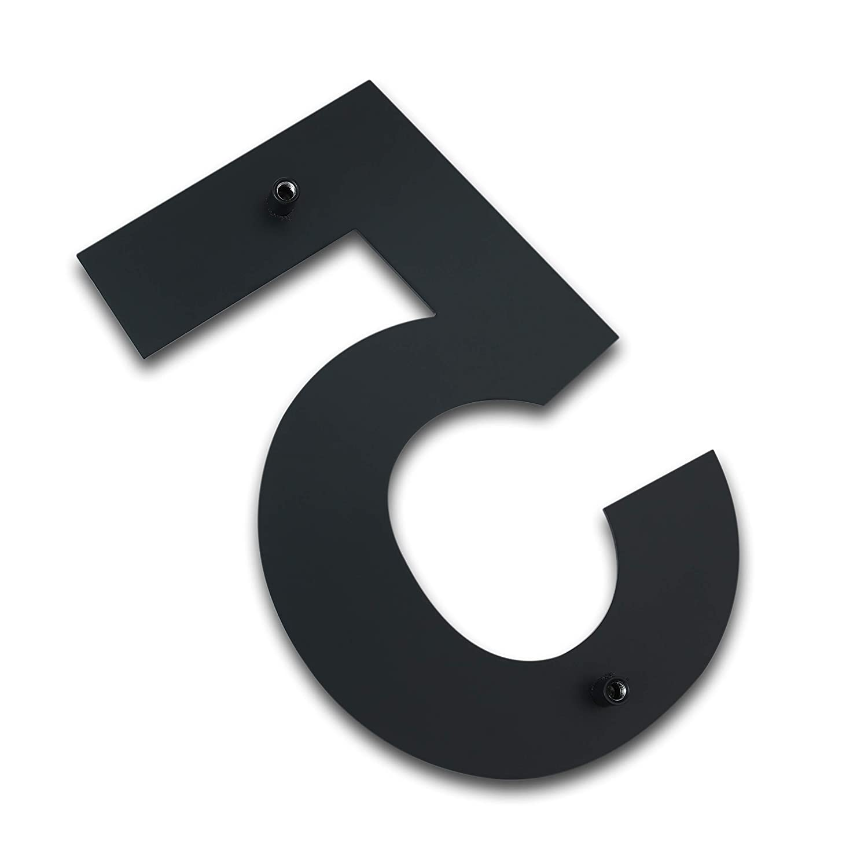 acciaio inossidabile massiccio 304 Numero civico moderno spazzolato 4 pollici placcato nero altezza 102 mm N/úmero 4 Cuatro