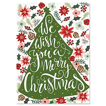 Personalized Christmas Cards.Amazon Com Poinsetia Wish Personalized Christmas Cards