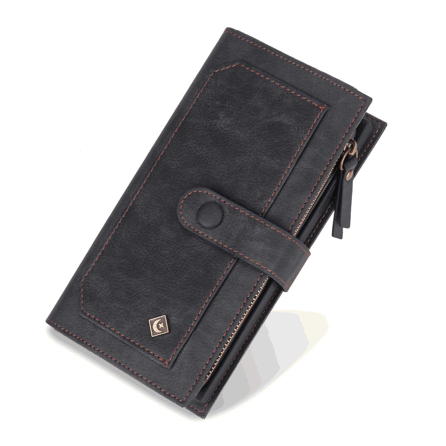 iPhone Xs Max Flip Case Cover for iPhone Xs Max Leather Kickstand Wallet Cover Card Holders Extra-Durable Business with Free Waterproof-Bag Delicate