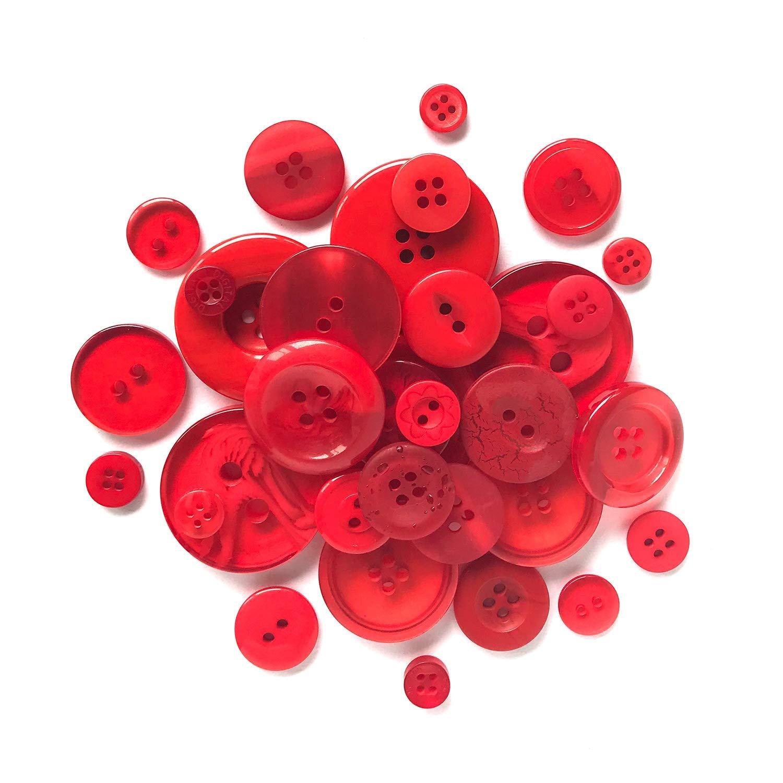 Botones de pl/ástico Resistente Elegante bot/ón Fire Engine Rojo