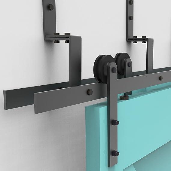 vanCleef 5 – 16 ft Bypass Kit de puerta corredera puerta Hardware, diseño recto, Lightning estilo z – Soporte, interior y exterior, con silencioso Glide rodillo y descriptivo instalación manual: Amazon.es: Bricolaje y herramientas