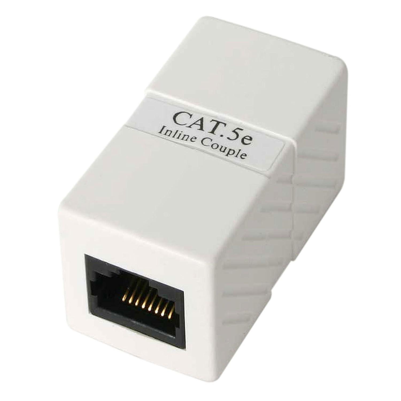 StarTech.com CAT5COUPLER - Caja de Empalme Acoplador Cable Cat5 Ethernet UTP - 2x Hembra RJ45 - Blanco VERBATIM CORPORATION